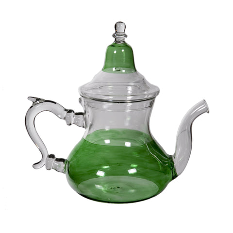 Green Glass Teapot