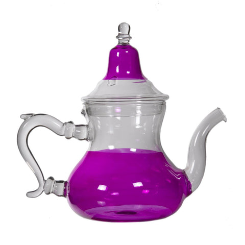 Pink Glass Teapot