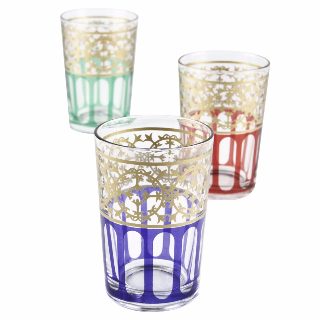 Moorish Design Tea Glasses (Set of 6)