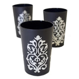 Luxury Imilchil Tea Glasses, Silver in Black (Set of 6)