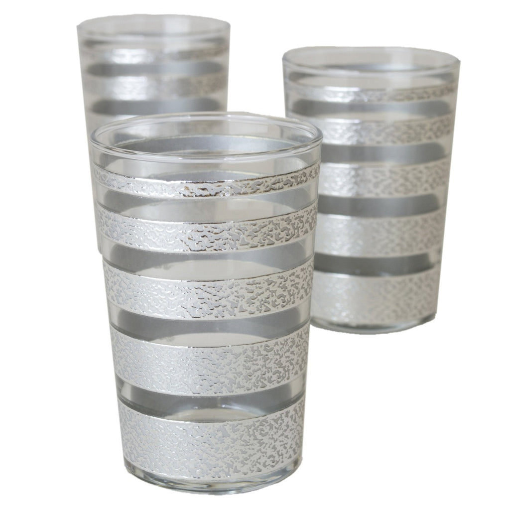 Luxury Ring Tea Glasses, Silver and Clear (Set of 6)