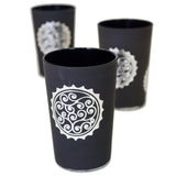 Luxury Massira Tea Glasses, Silver in Black (Set of 6)