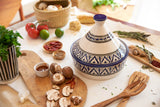 Berber Design Serving Tagine, Blue & White