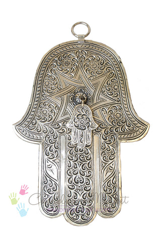 Large Brass Hand of Fatima