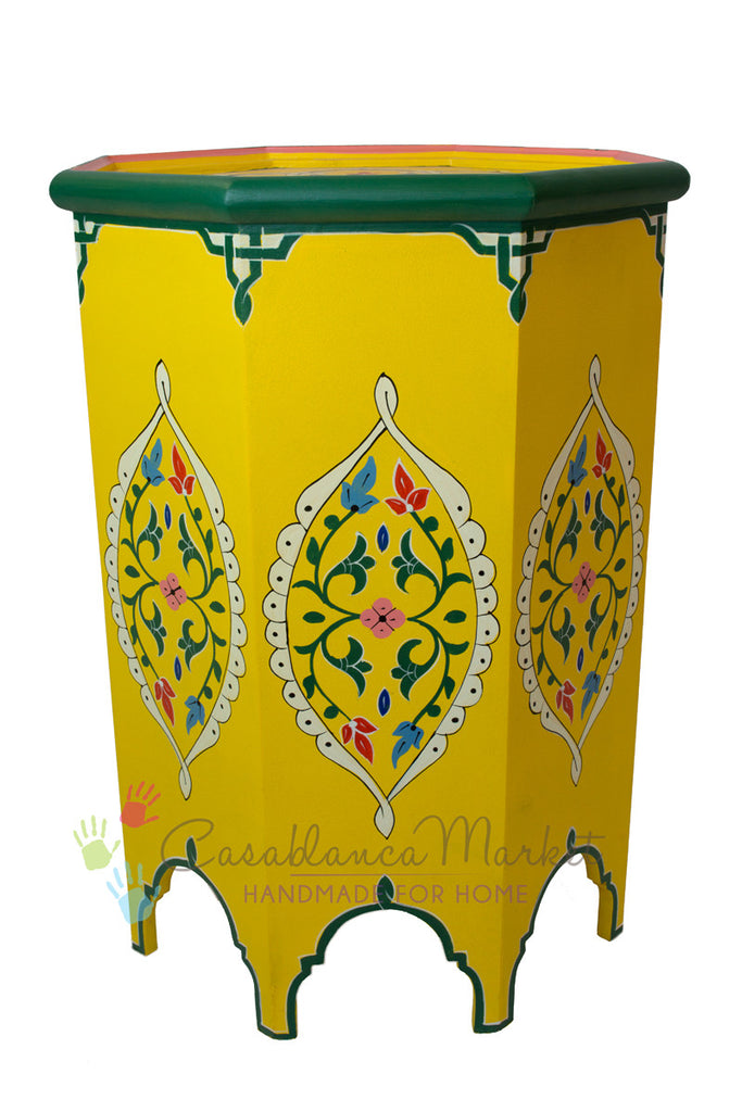 Safi Hand-painted Side Table