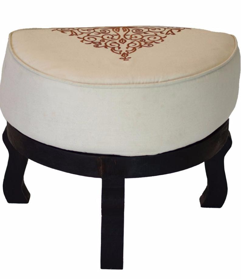 Miraculous Embroidered Ottoman Stool Casablanca Market Machost Co Dining Chair Design Ideas Machostcouk
