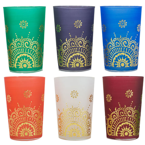 Luxury Tea Glasses,  Ifrane Mix  (Set of 6)