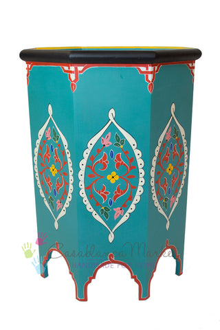 Tangier Hand Painted Side Table