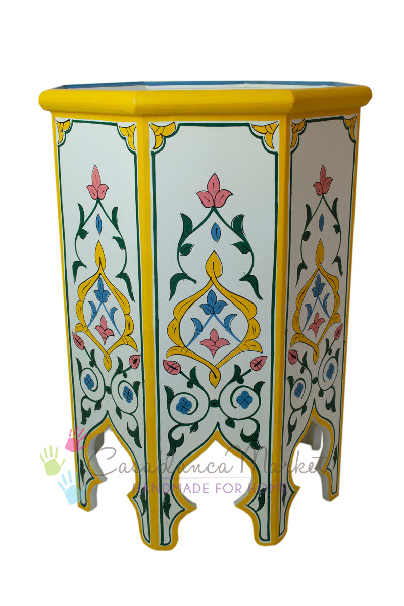 Meknes Hand Painted Side Table
