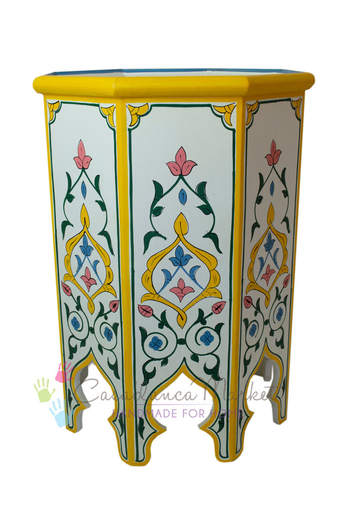 Meknes Hand-painted Side Table