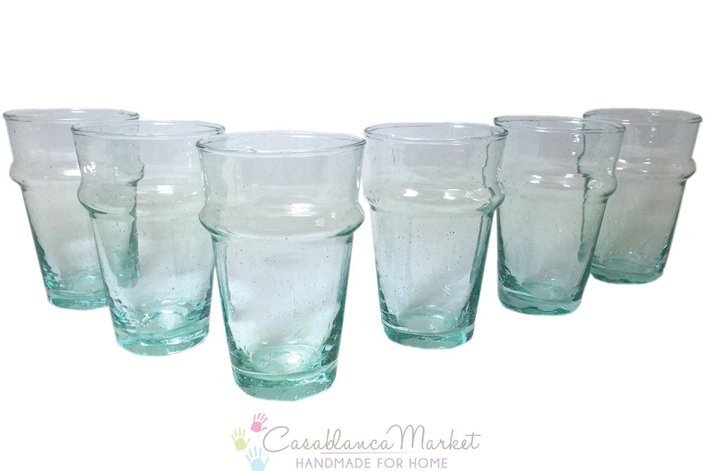 Beldi Moroccan Tea Glasses, Clear (Set of 6)