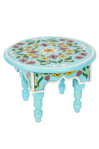 Hand Painted Miniature Table, Blue