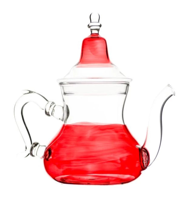 Red Glass Teapot