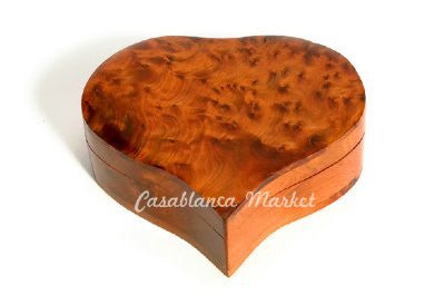 Heart shaped cedar box HA018
