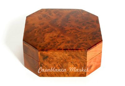Octagon Cedar Wood Box
