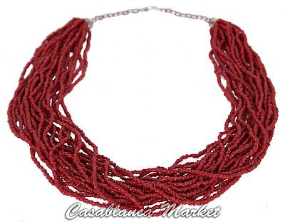 Moroccan Coral Necklace MJ0005