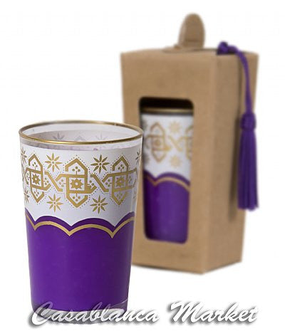 Moroccan Tea Glass Candles, Sweet Lavender