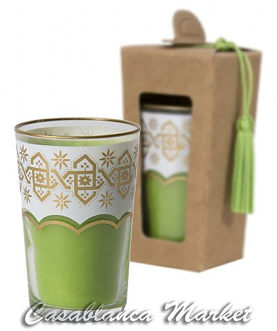 Moroccan Tea Glass Candles, Moroccan Mint