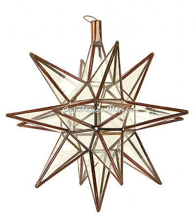 Marrakech Star Lantern, Clear