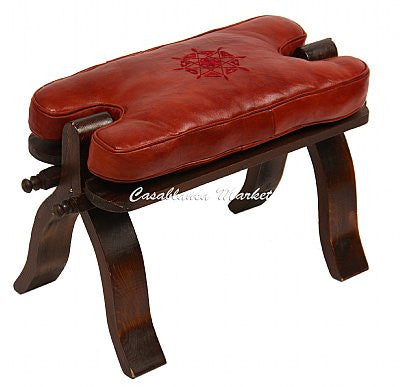 Leather Camel Seat,  Rose Wood