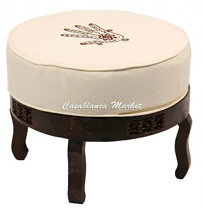 Hand of Fatima Embroidered Stool