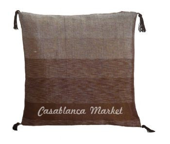 Brown Striped Silk/Wool Pillow