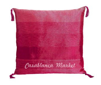 Pink Striped Silk/Wool Pillow