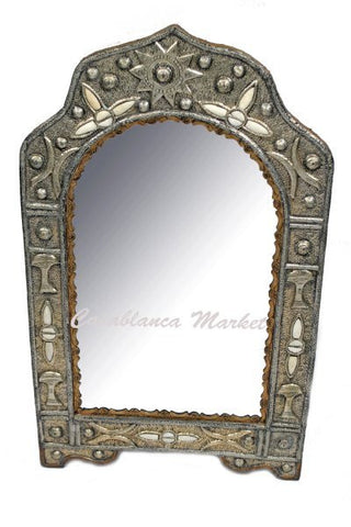 Accented White Mirror