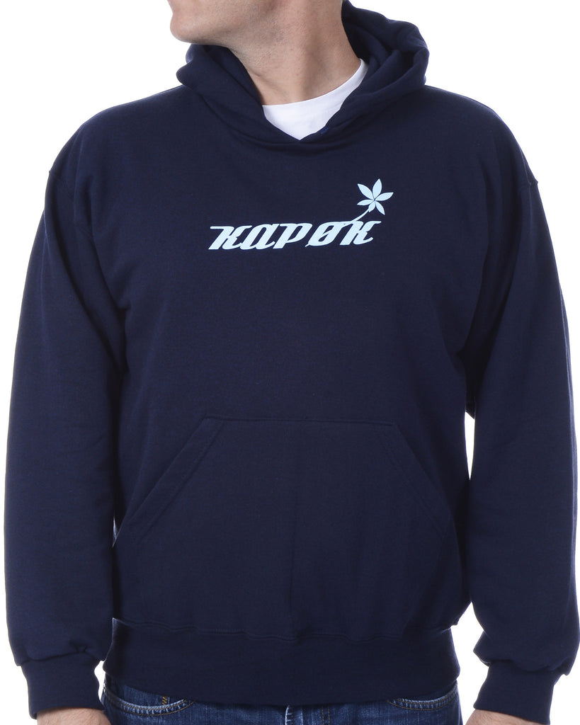 Men's Recycled Hoodie - Navy Blue Pullover - Blue Stem