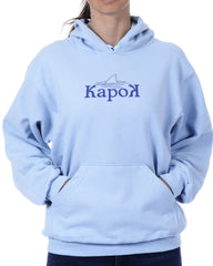 Women's Recycled Hoodie - Cornflower Blue Pullover - Shark Fin