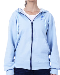 Women's Recycled Hoodie - Cornflower Blue Zip