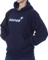 Women's Recycled Hoodie - Navy Blue Pullover - Blue Stem