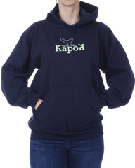 Women's Recycled Hoodie - Navy Blue Pullover - Whale Tail