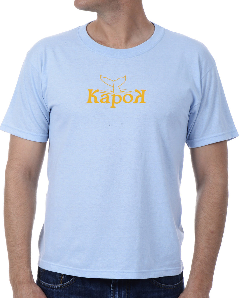 Men's Recycled Tee - Yellow Whale Tail