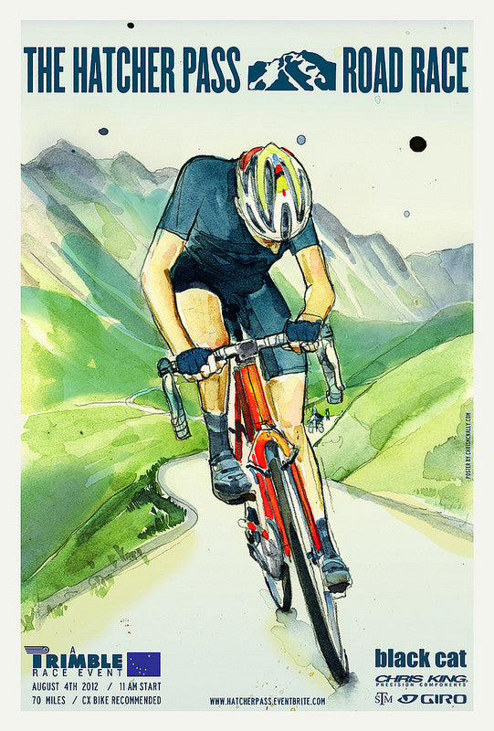 Hatcher Pass Road Race Poster