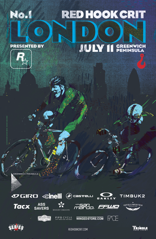 Red Hook Criterium London No.1 Official Poster