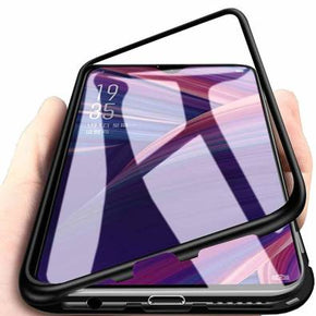 VIVO Z1 PRO Magnetic Metal Frame Tempered Glass Hard Back Cover with Built-in Magnets Bumper