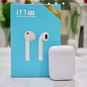 i11 5.0 Wireless Earphone with Portable Charging Case Supporting All Smart Phones and Android Phones with Sensor