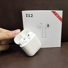 i12 TWS Wireless Earphone with Portable Charging Case Supporting All Smart Phones and Android Phones with Sensor with Great Performance and Nice disighn Look
