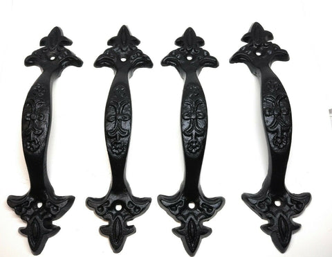10 Pack Cast Iron Large /& Fancy Antique Replica Drawer Pull//Barn Gate Handle