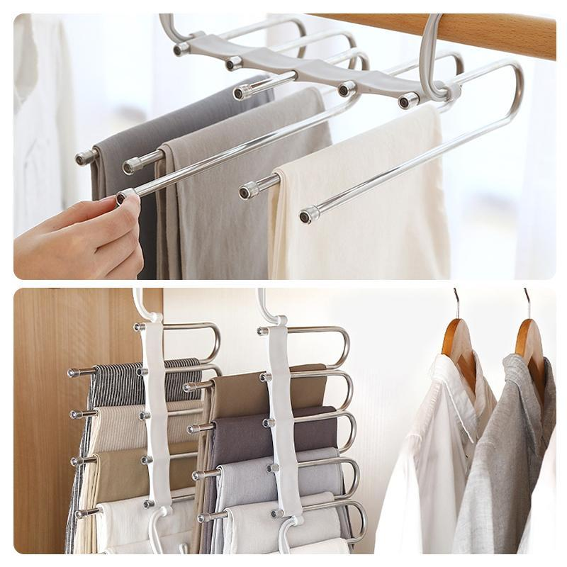 (Buy 3 Get 1 Free) - Multi-Functional Pants Rack