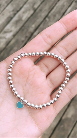 Sterling Silver Blue Heart