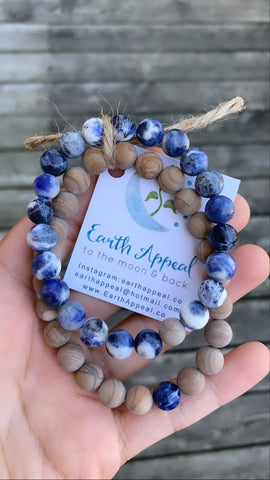 His & Hers Wood Jasper + Sodalite