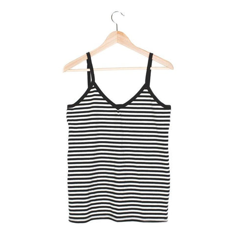 Stripe Cami - SMALL / BLACK / WHITE - CAMP Collection - 1
