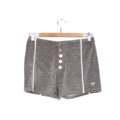FIELD DAY VELOUR SHORTS - HEATHER GREY / CREAM TRIM / SMALL - CAMP Collection - 1