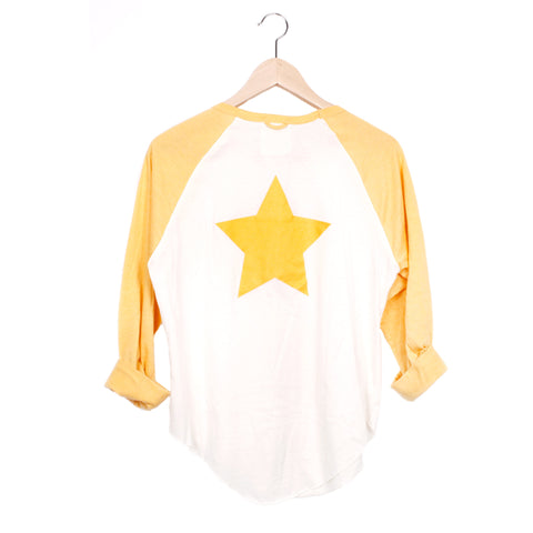 STARCHILD BASEBALL TEE - CREAM / SUNSHINE / SMALL - CAMP Collection - 1