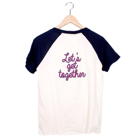 LET'S GET TOGETHER - CREAM / SEA BLUE / SMALL - CAMP Collection - 1