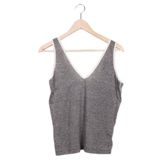 TWIST AND SHOUT TANK - HEATHER GREY / CREAM / SMALL - CAMP Collection - 1