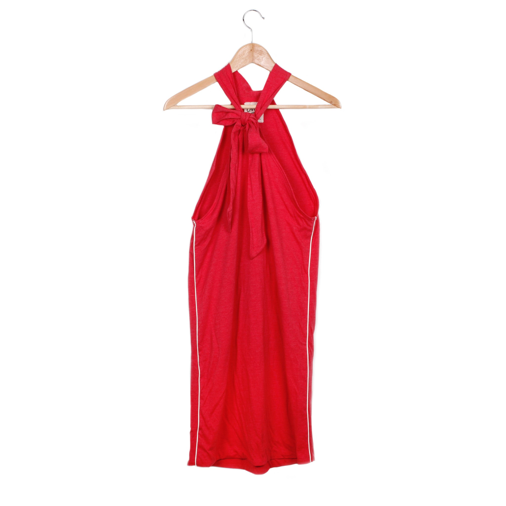 LAYLA DRESS - HEATHER RED / CREAM PIPING / SMALL - CAMP Collection - 1