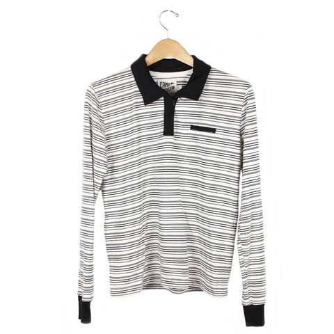 Miller Stripe Polo - SMALL / WHITE / BLACK - CAMP Collection - 1